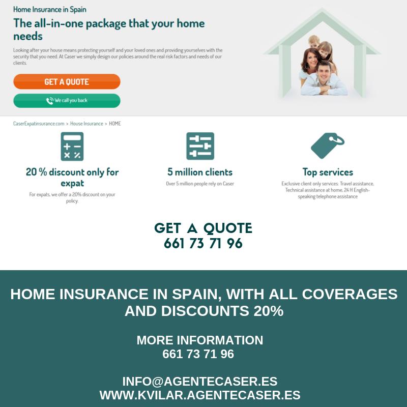 Home Insurance for expatriates - Kvilar, CASER Agent at Santa Cruz de Tenerife