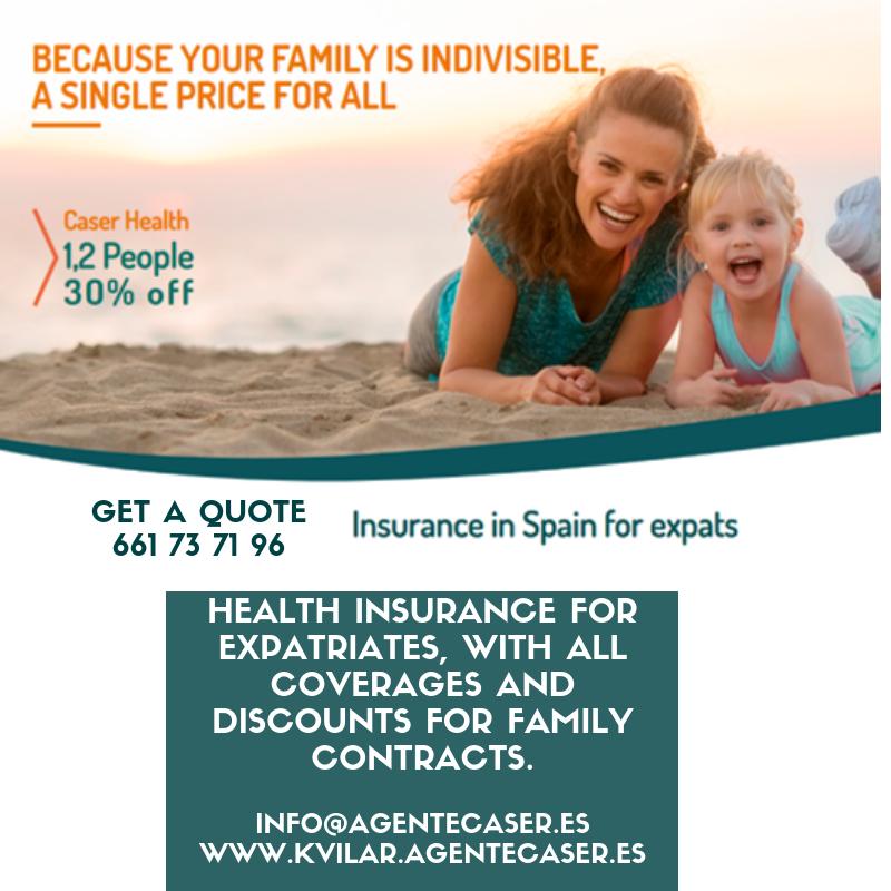 Health Insurance for expatriates - Kvilar, CASER Agent at Santa Cruz de Tenerife