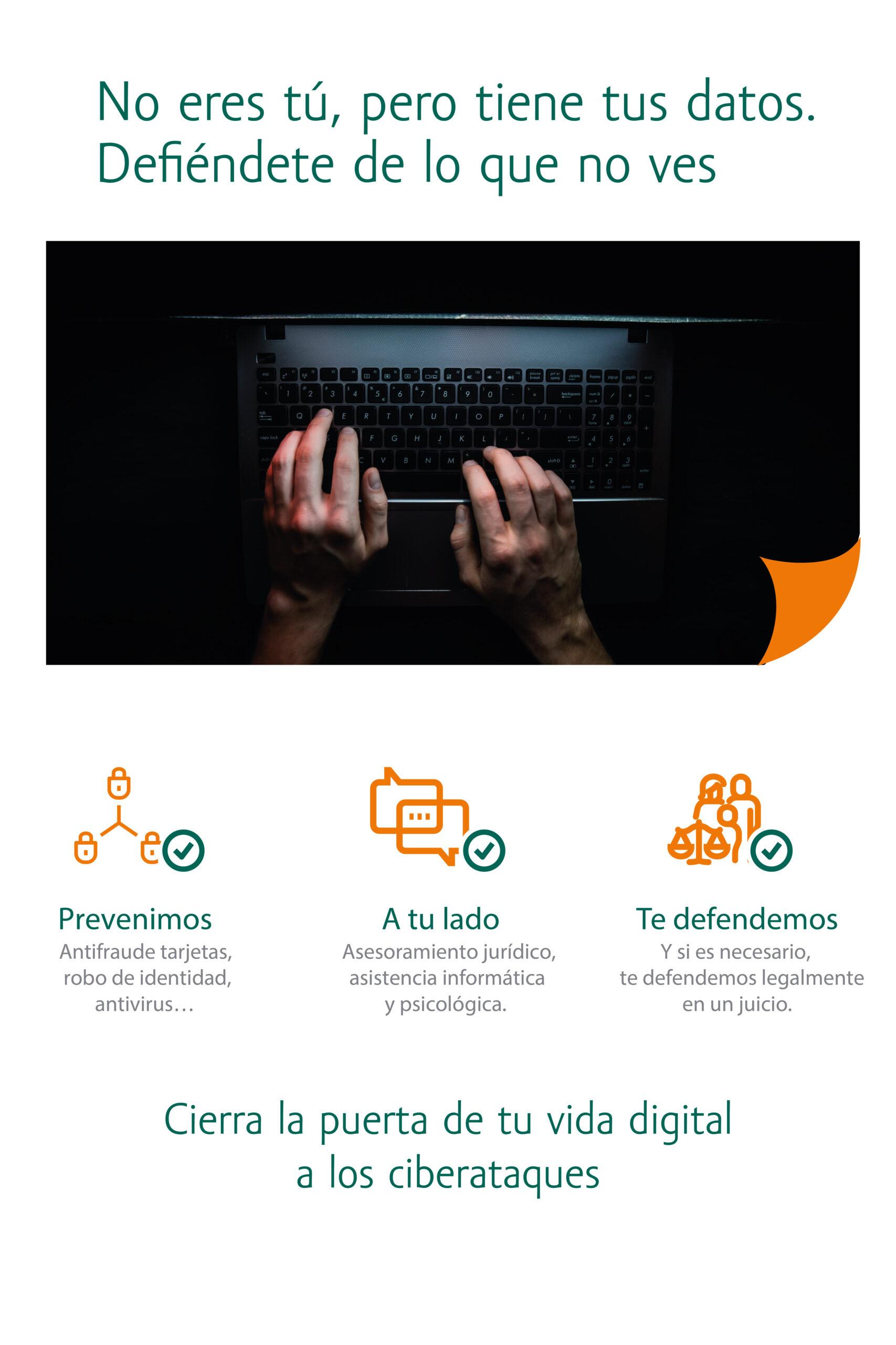 Seguro para protegerte de los ataques desde internet Cyber Protección